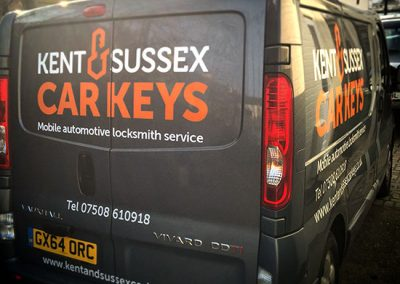 Kent and Sussex Car Keys Graphic Design Project